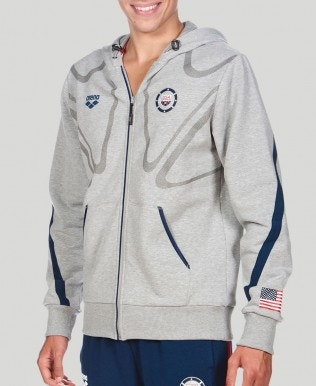 Usa Swimming Hooded Jacket (Unisex)