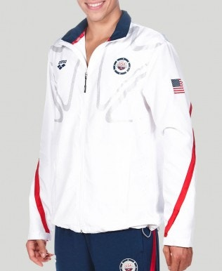 Usa Swimming Warm Up Jacket (Unisex)