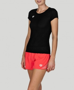 Women's Gym Short Sleeve Mesh Solid T-Shirt