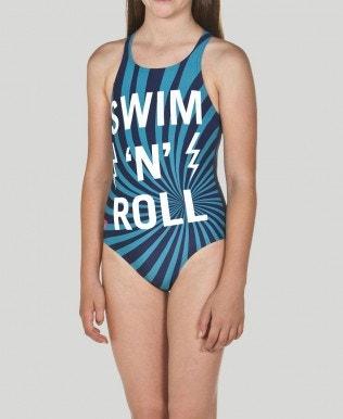 Badeanzug Mädchen Swim&Roll