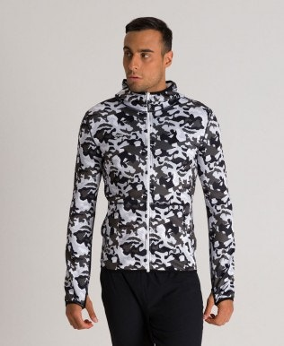 Men's Hooded Spacer Reversible Full Zip Jacket