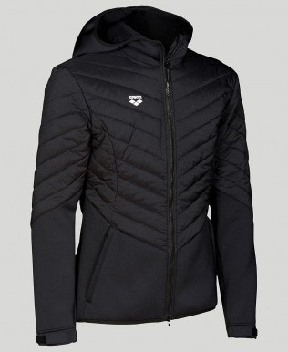 Hooded Half-Quilted Jacket