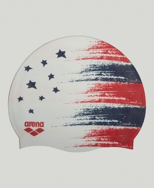 USA Flag Silicone Swim Cap