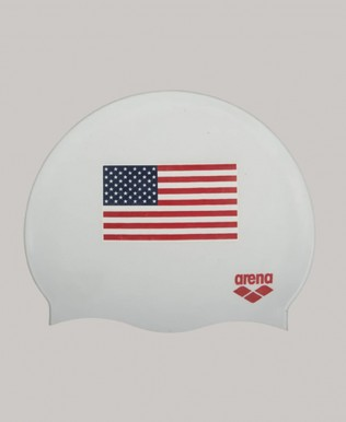 USA Flag Silicone Swim Cap