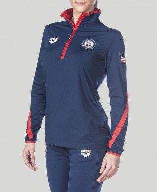 Official USA Swimming National Team Womens Half Zip LS II