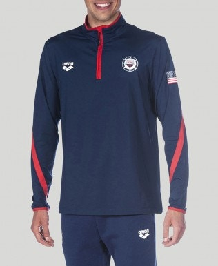 Official USA Swimming National Team Half Zip LS II