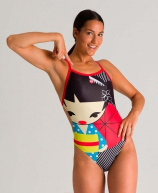 Women's Crazy Kokeshi One Piece