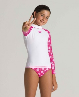 Girls' long sleeves Allover Rash Vest