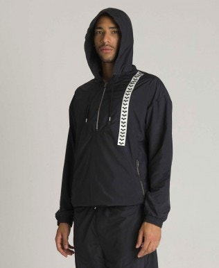 Unisex Hooded Half-zip Jacket