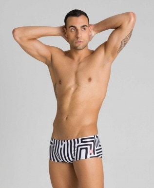 Short de bain taille basse Crazy Labyrinth