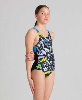 Playful Swim-Pro-Back Mädchen-Einteiler