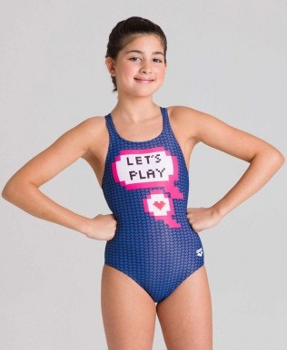 Maillot de bain Une-Piece pour Fille Let's Play Jr L Dos V