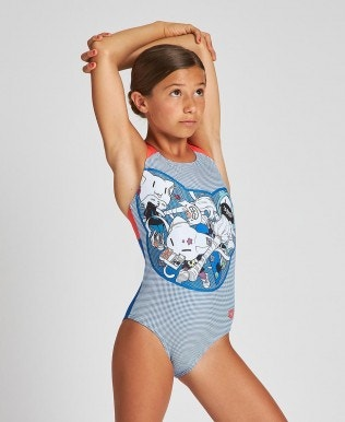 M Funny Cats Jr Swim Pro Back L