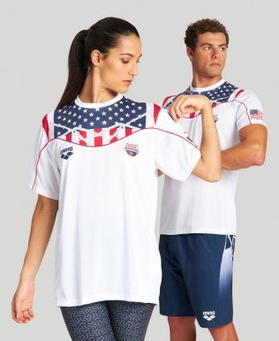USA Swimming Team Kit Tech T-Shirt – Official Line