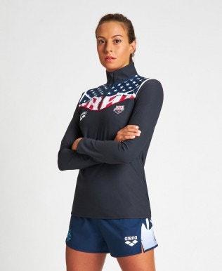 Women's USA Bishamon Half Zip Shirt