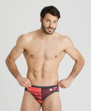 Herren Printed Icons Team Stripe Brief