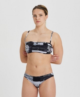 Women's Icons Team Stripe Bandeau Bikini