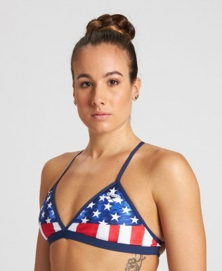 Stars and Stripes Tie Back Top