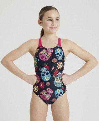 Maillot de bain 1 pièce fille Crazy Skulls Carnival JR Swim Pro