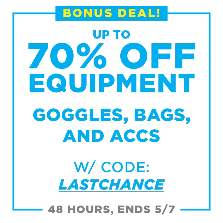 up to 70% off equipment with coupon: lastchance