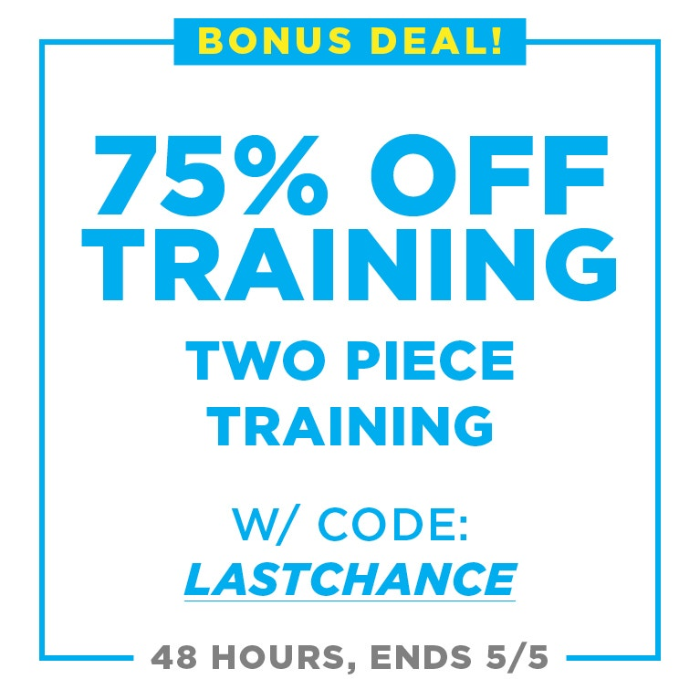75% off two piece training suits with coupon: lastchance