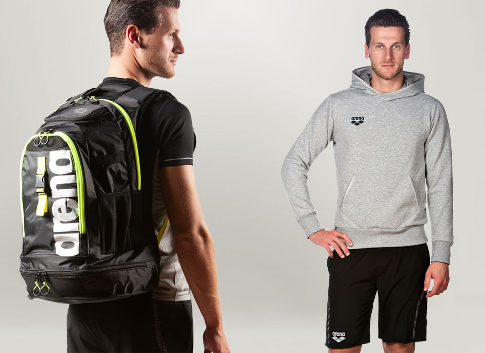 arena Essentials equipment and sportswear for men
