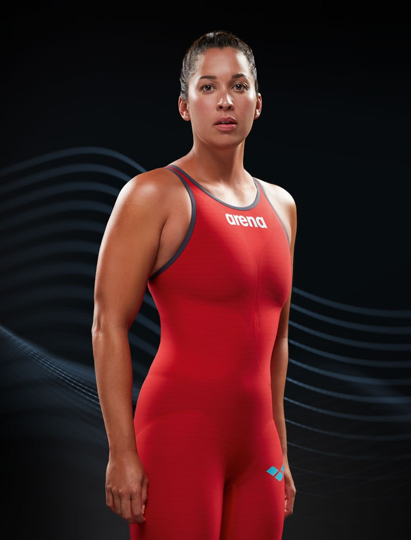 carbon bands in arena race suits